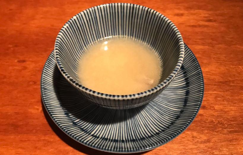 3. Jugo de Merluza_ Koy Shunka- Mejor restaurante japonés Barcelona Gotic