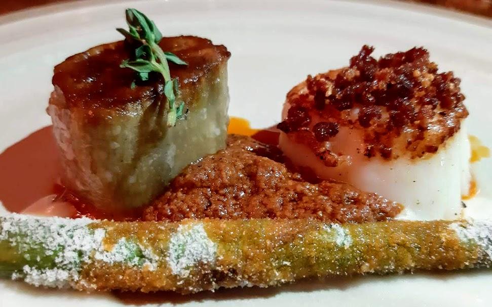Ajoblanco. Restaurante de moda calle Tusset Barcelona-vieira
